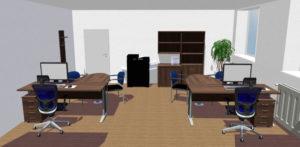 3D návrh kancelar pro 2