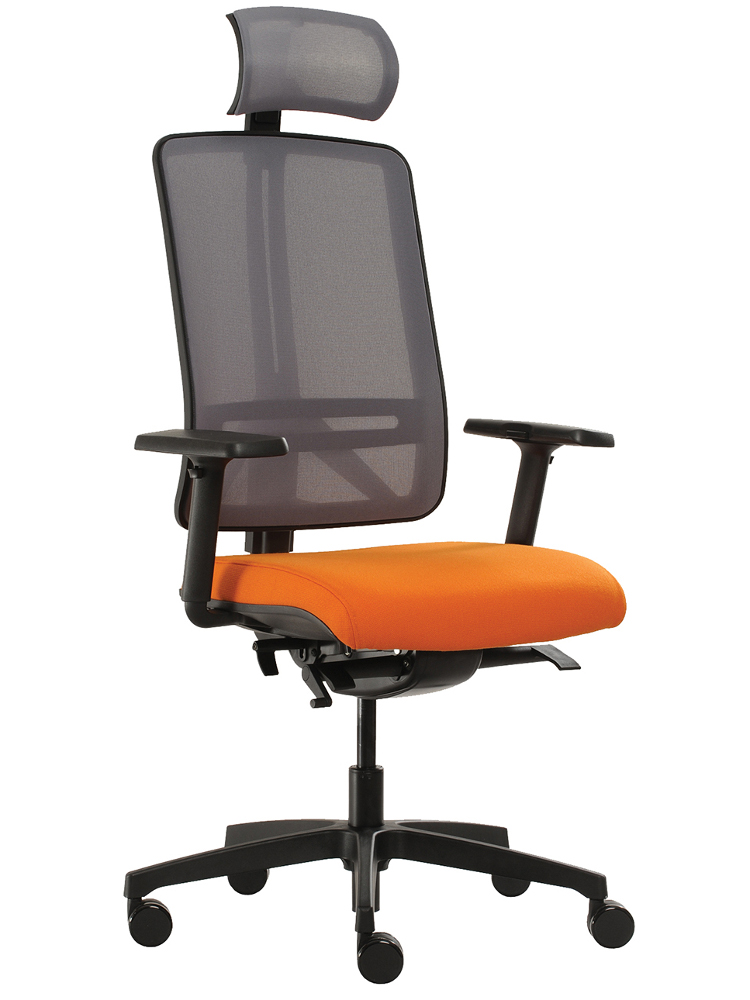 židle Flexi oranžový sedák