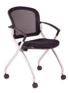 Konferenční židle Metis OFFICE PRO na kolečkách, černý potah