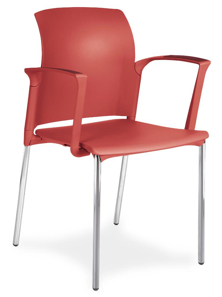 konferenční židle Class červená