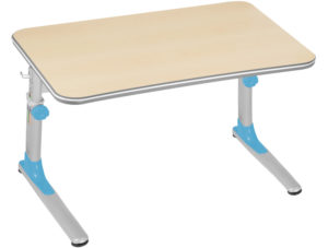 stůl junior modrý s javorovou deskou