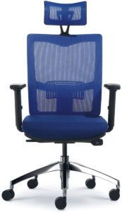 Kancelářská síťovaná židle X2 modrá