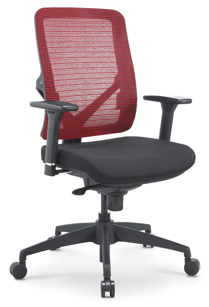 Kancelářská síťovaná židle X7 červená