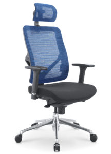 Kancelářská síťovaná židle X7 modrá síťovina