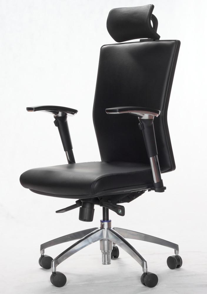 Kožená židle X5PL, hliníkový kříž