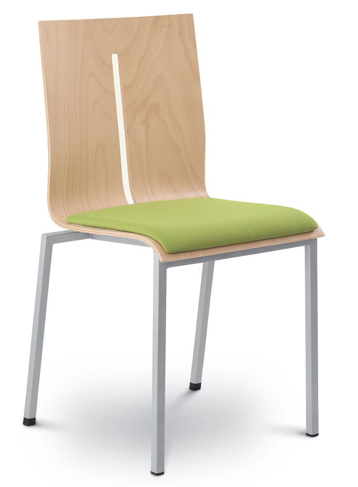 Skořepinová židle Twist s čalouněným sedákem 241