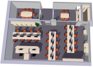 RADA NÁBYTEK návrh velkoprostorové kanceláře a zázemí pro pracovníky 5